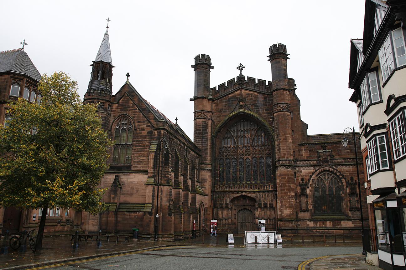 Entrada a la Catedral de Chester