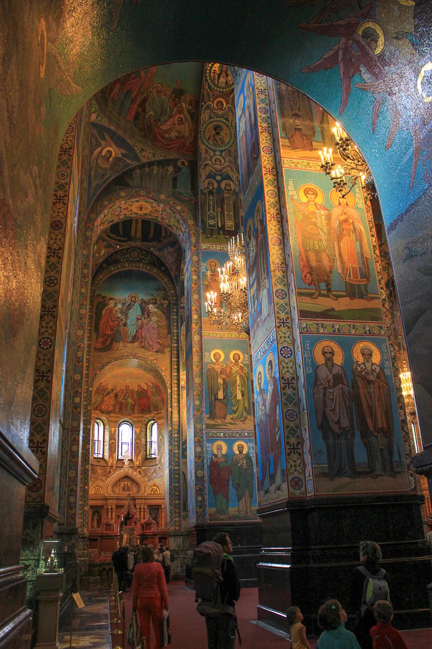 Entrada a la catedral mas famosa de San Petersburgo