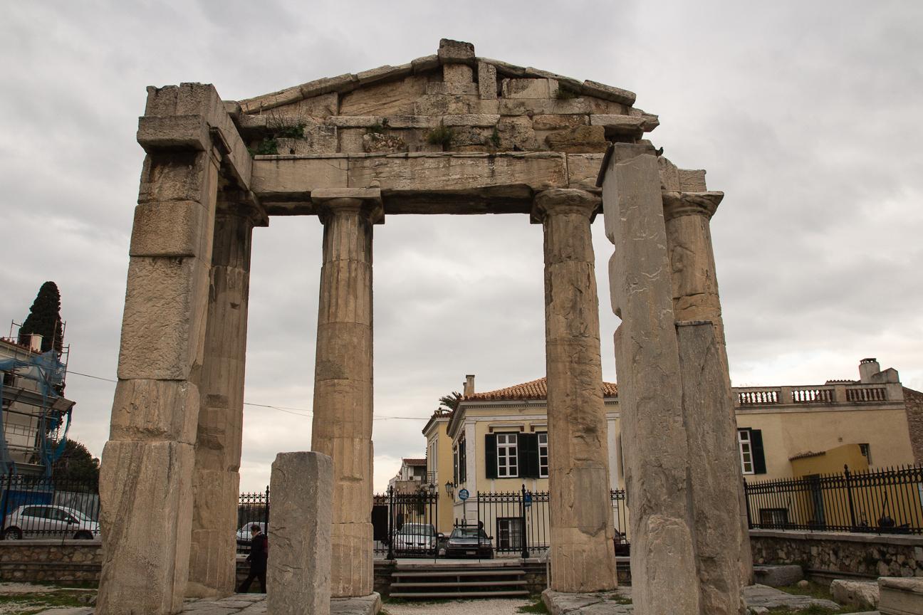 Entrada al ágora romana