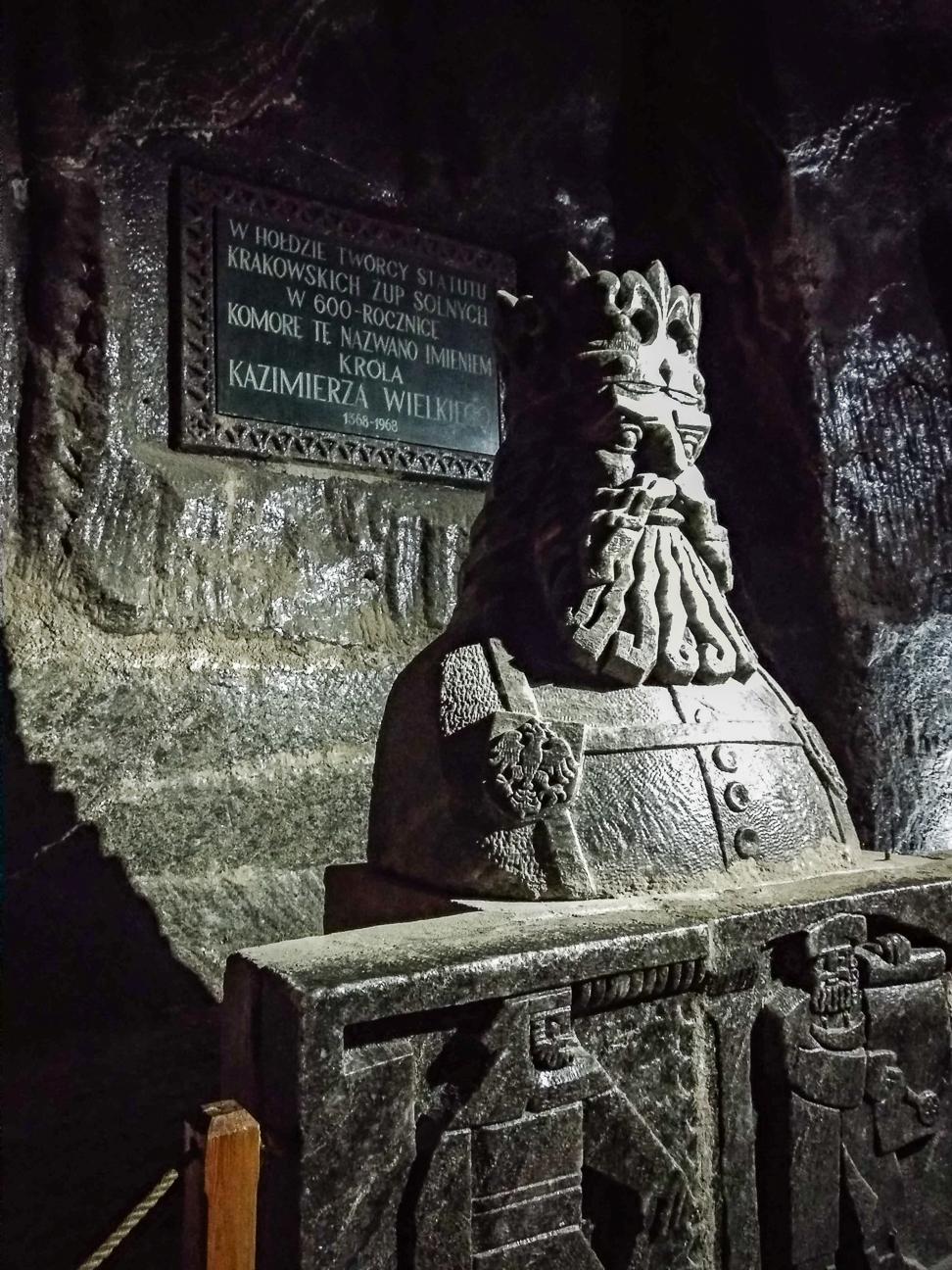 Estatua de Sal en las minas de Cracovia