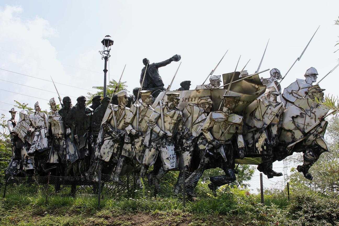 Esculturas comunistas en el Memento Park de Budapest