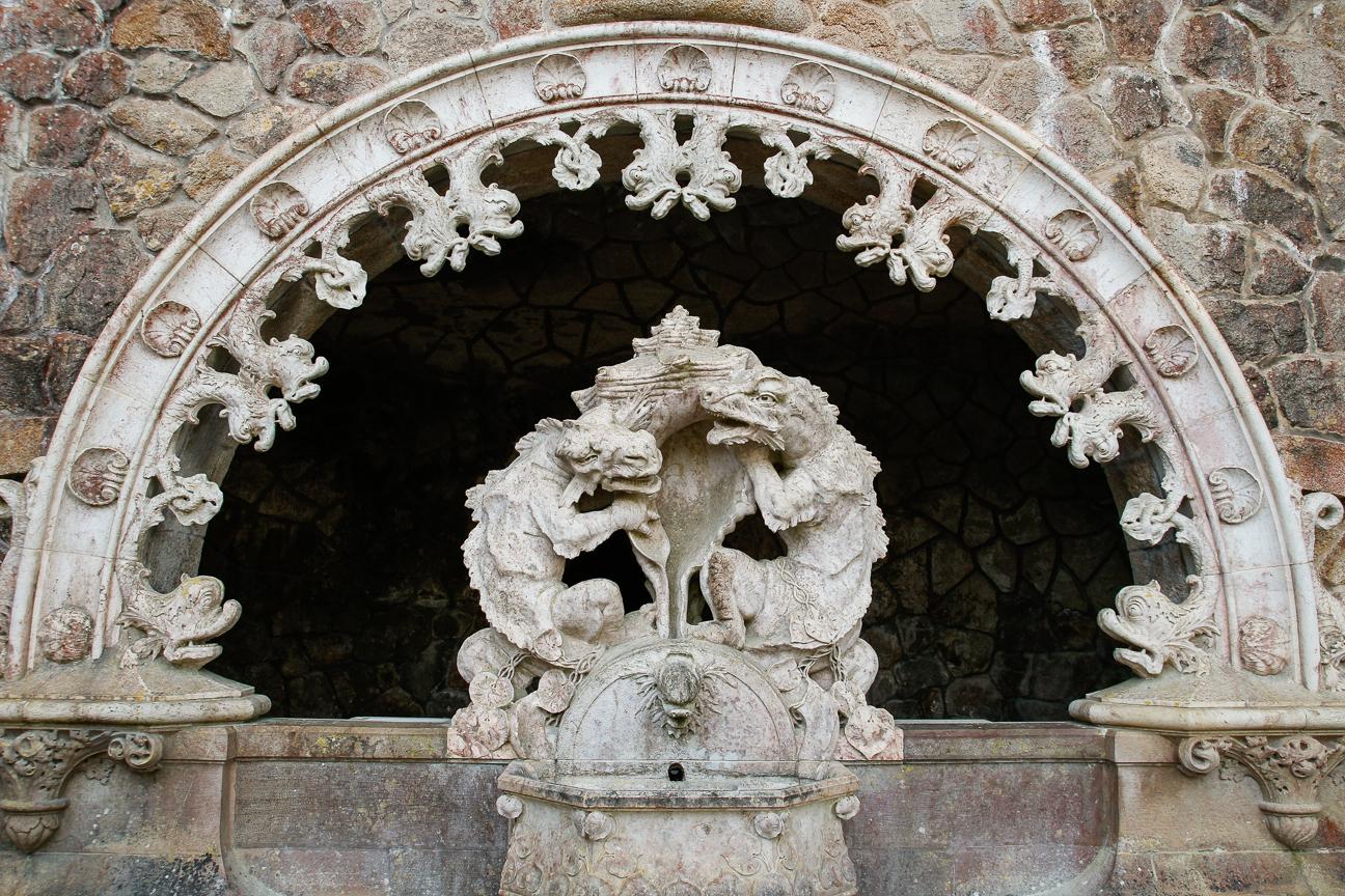 Esculturas y fuentes en Sintra