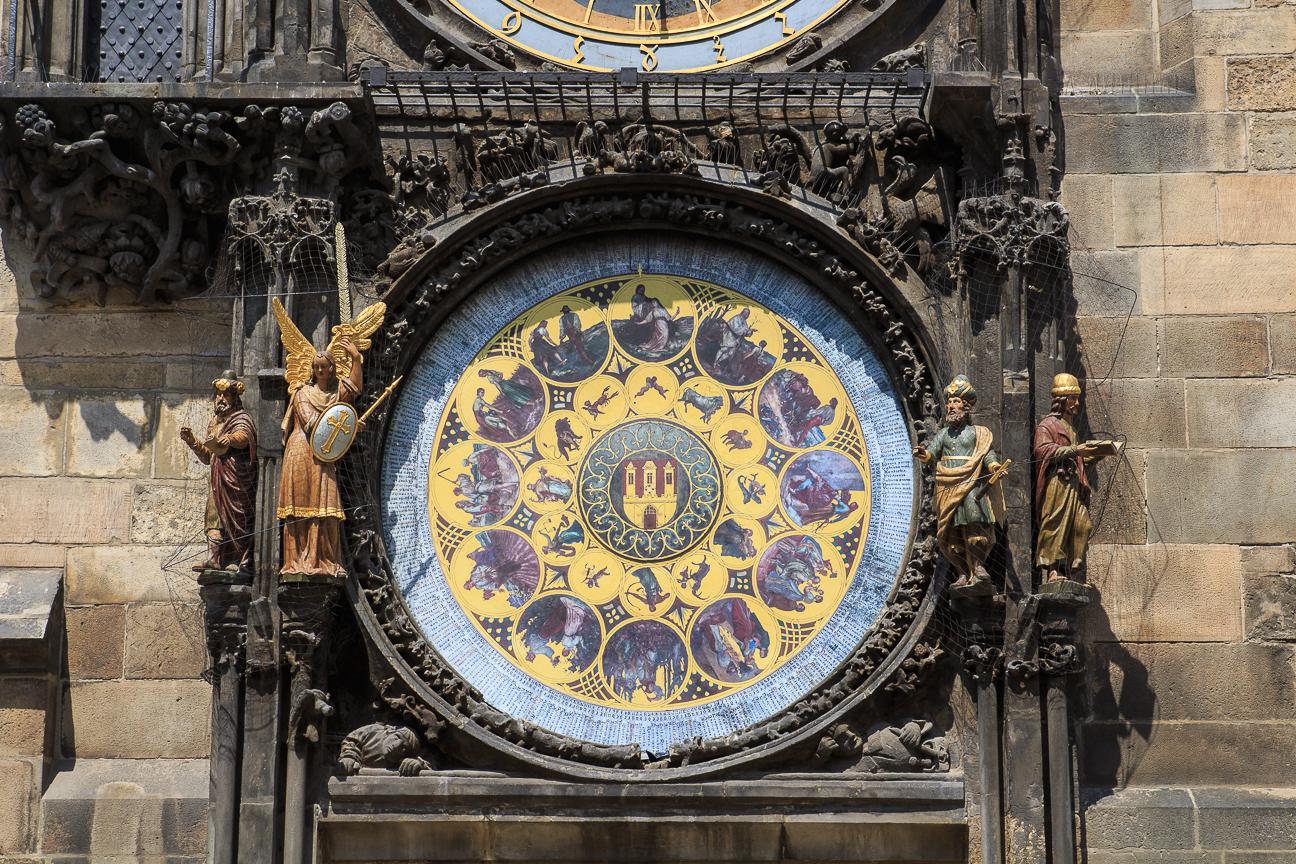 Esfera inferior del reloj astronomico de Praga