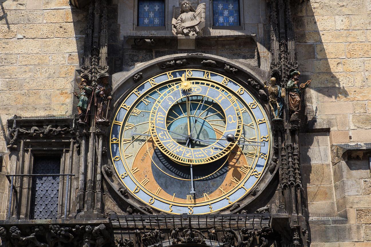 Esfera superior del reloj astronomico de Praga