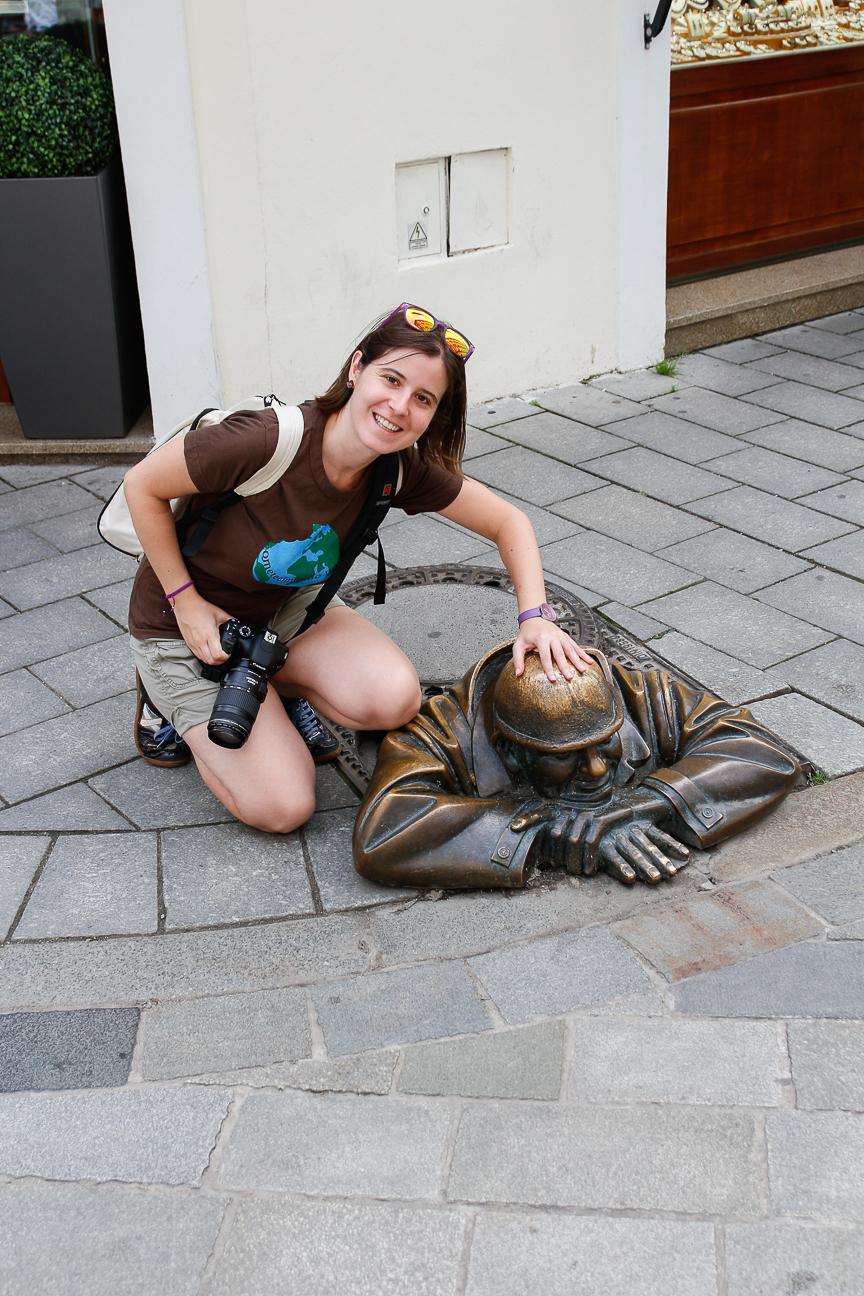 Estatua alcantarilla Bratislava