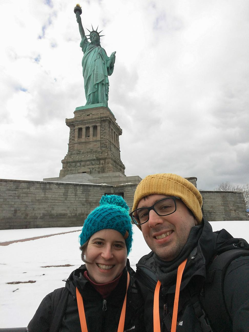 Estatua de la Libertad en Invierno