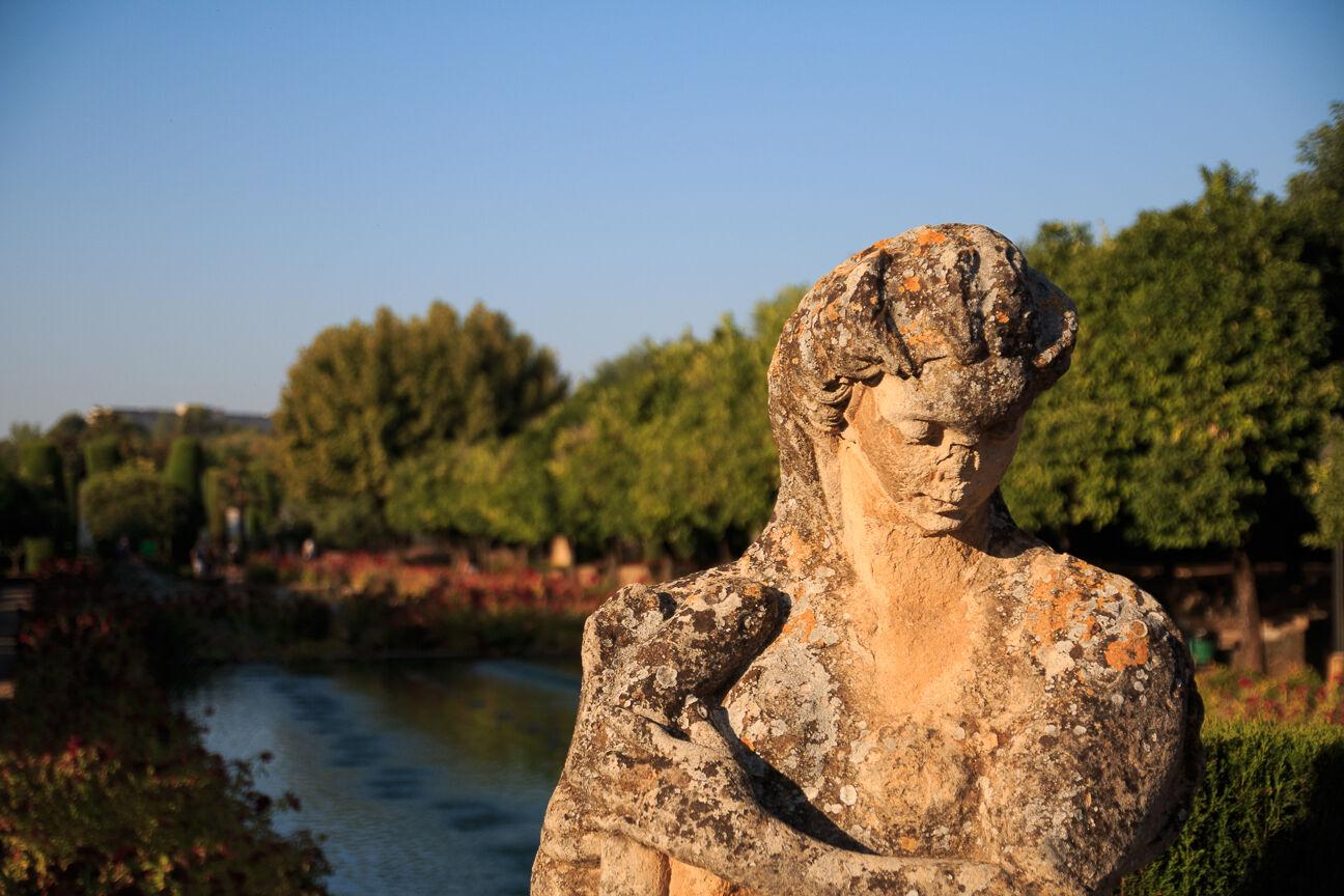Estatua en Jardin del Alcazar de Cordoba