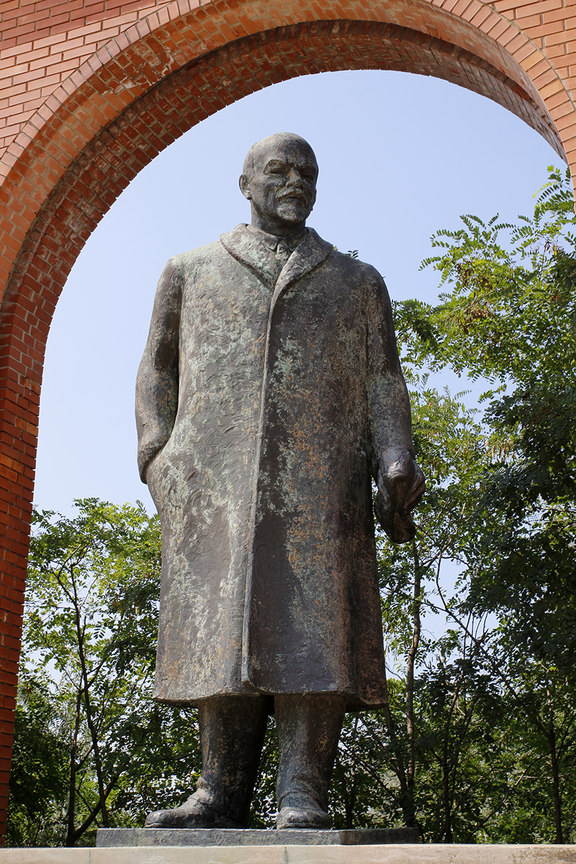 Estatua de Lenin en el Memento Park