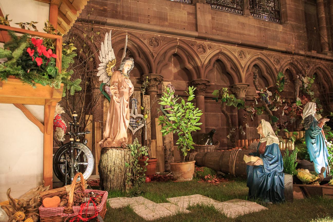 Pesebre de la catedral de Estrasburgo - Anunciacion