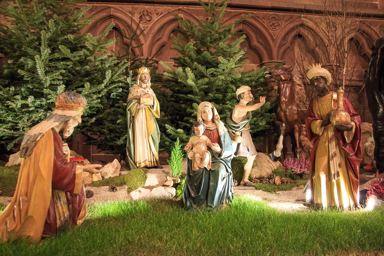 Pesebre de la catedral de Estrasburgo - Reyes Magos