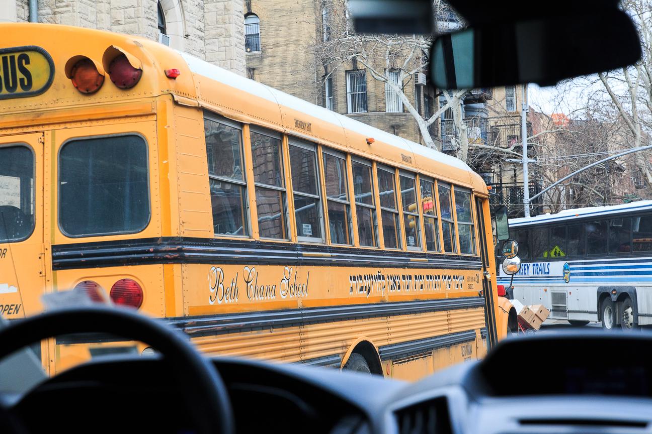 Excursion Contrastes Nueva York - Bus escolar en hebreo
