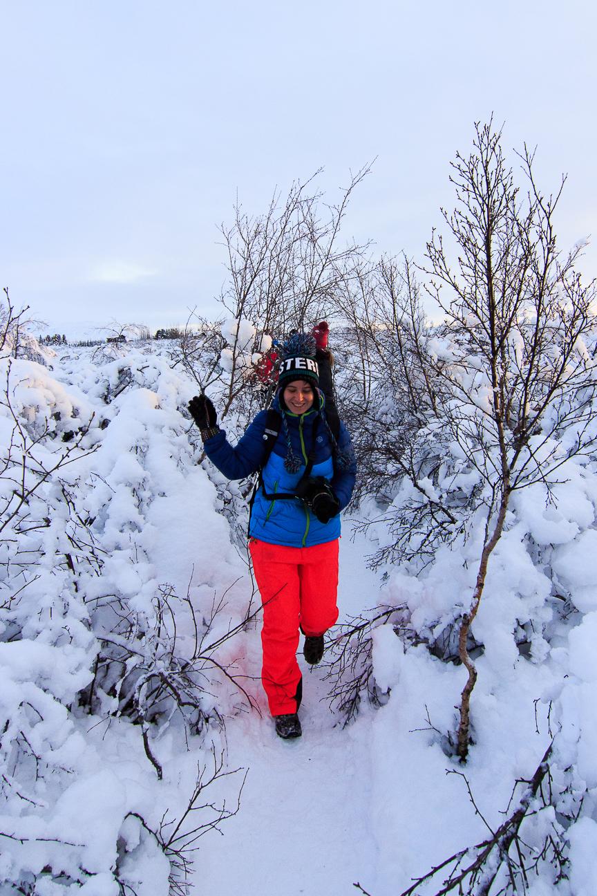 Excursion por la nieve en Islandia