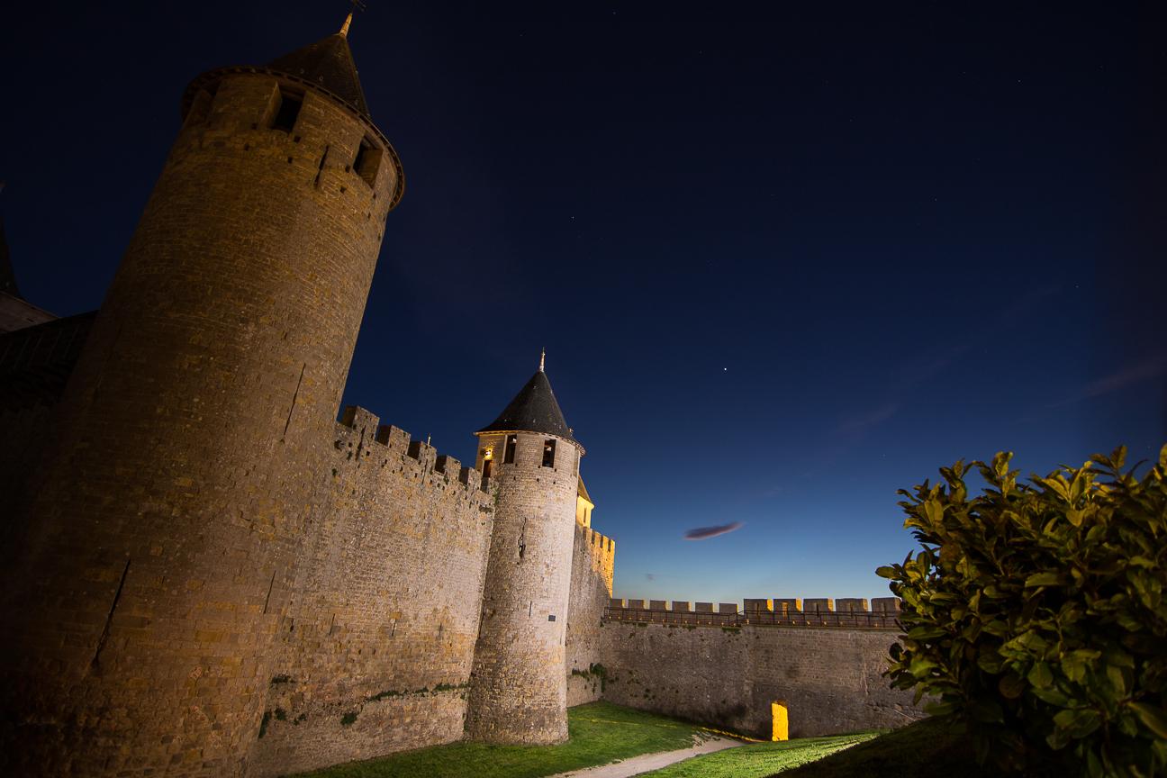 Foto nocturna Carcassonne