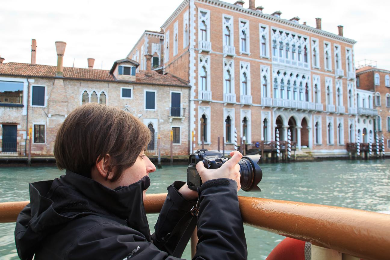 Fotografiando desde el Vaporetto
