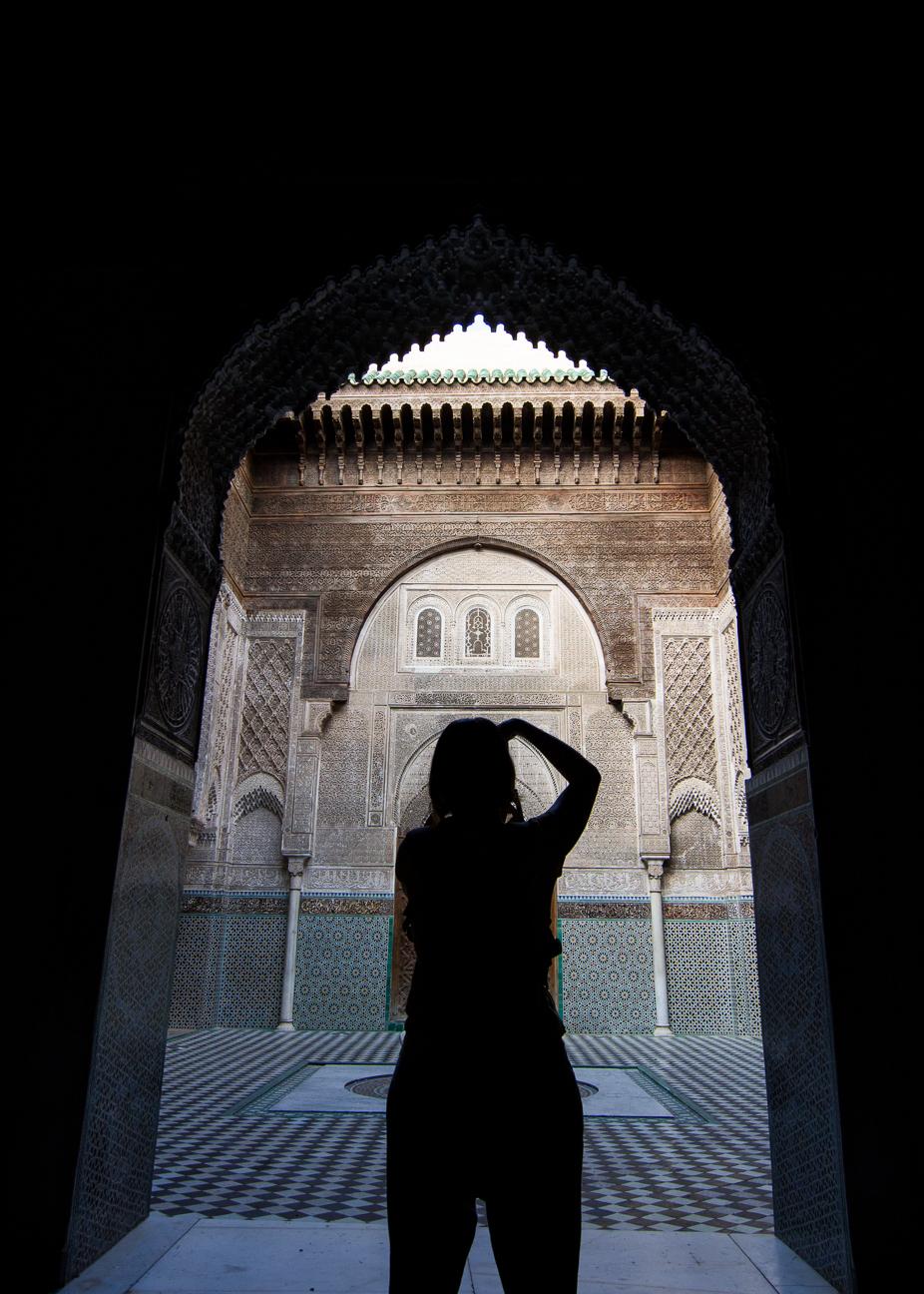 Fotografiando las madrazas de Fez