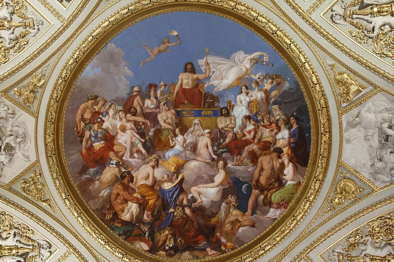 Frescos en el Palacio Pitti de Florencia
