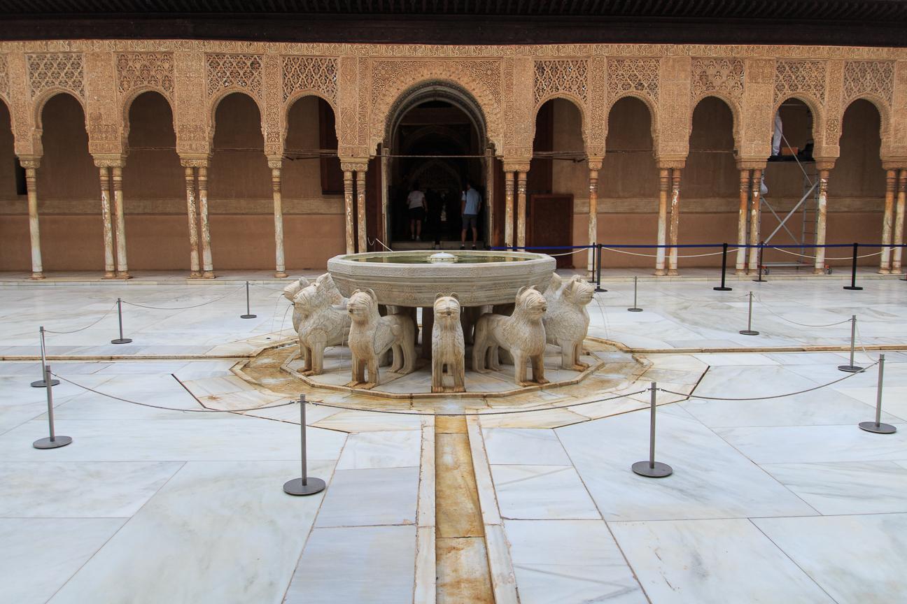 Fuente de los leones en los palacios nazaries
