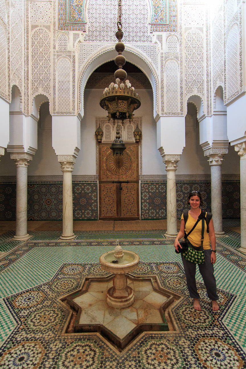 Fuente mausoleo Mulay Ismail Meknes Marruecos