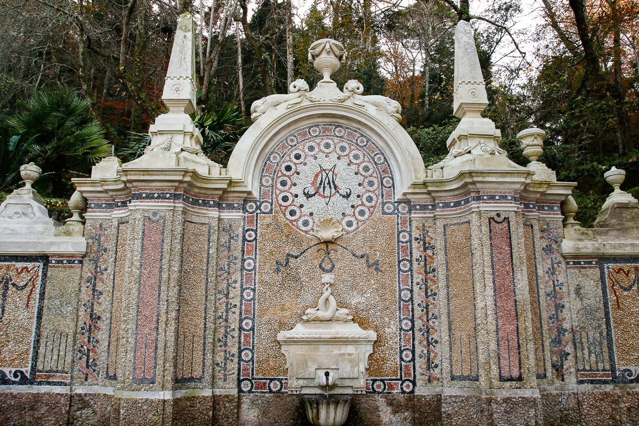 Fuente principal de la Quinta da Regaleira en Sintra