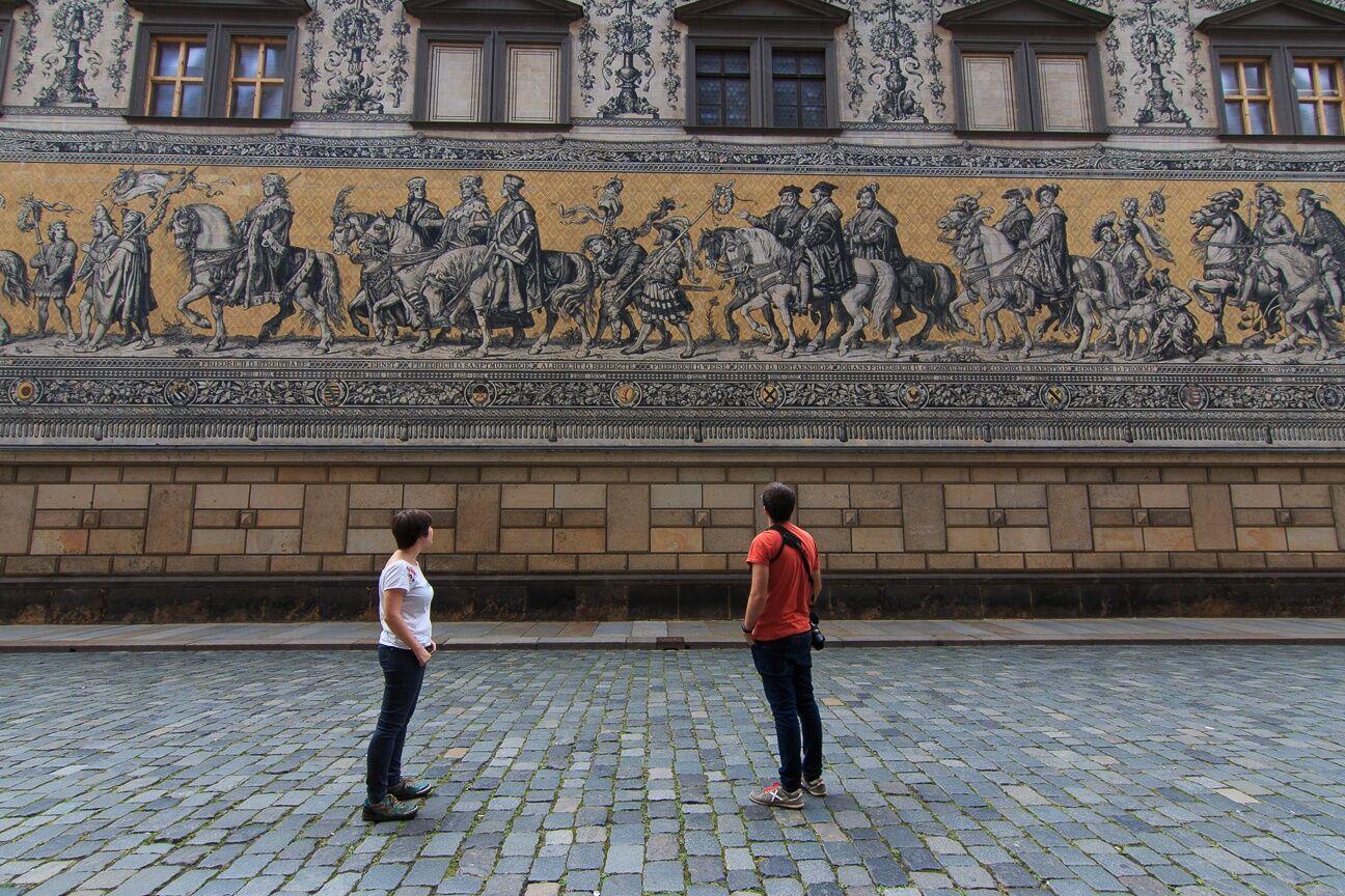 Furstenzug el desfile de los principes en Dresde
