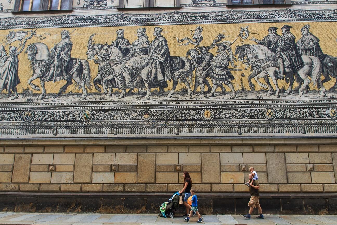 Furstenzug ecursion desde Praga a Dresde Alemania