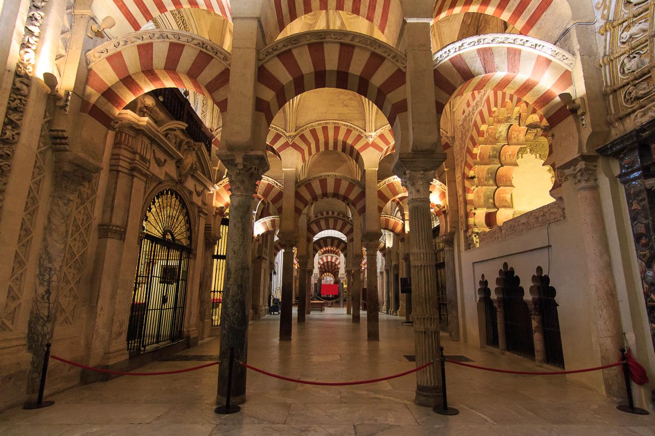 Galeria de columnas de la mezquita de Cordoba