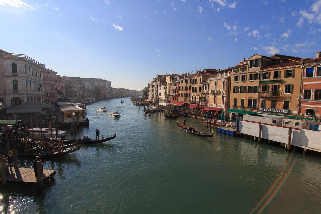 Gran Canal desde el Puente Rialto