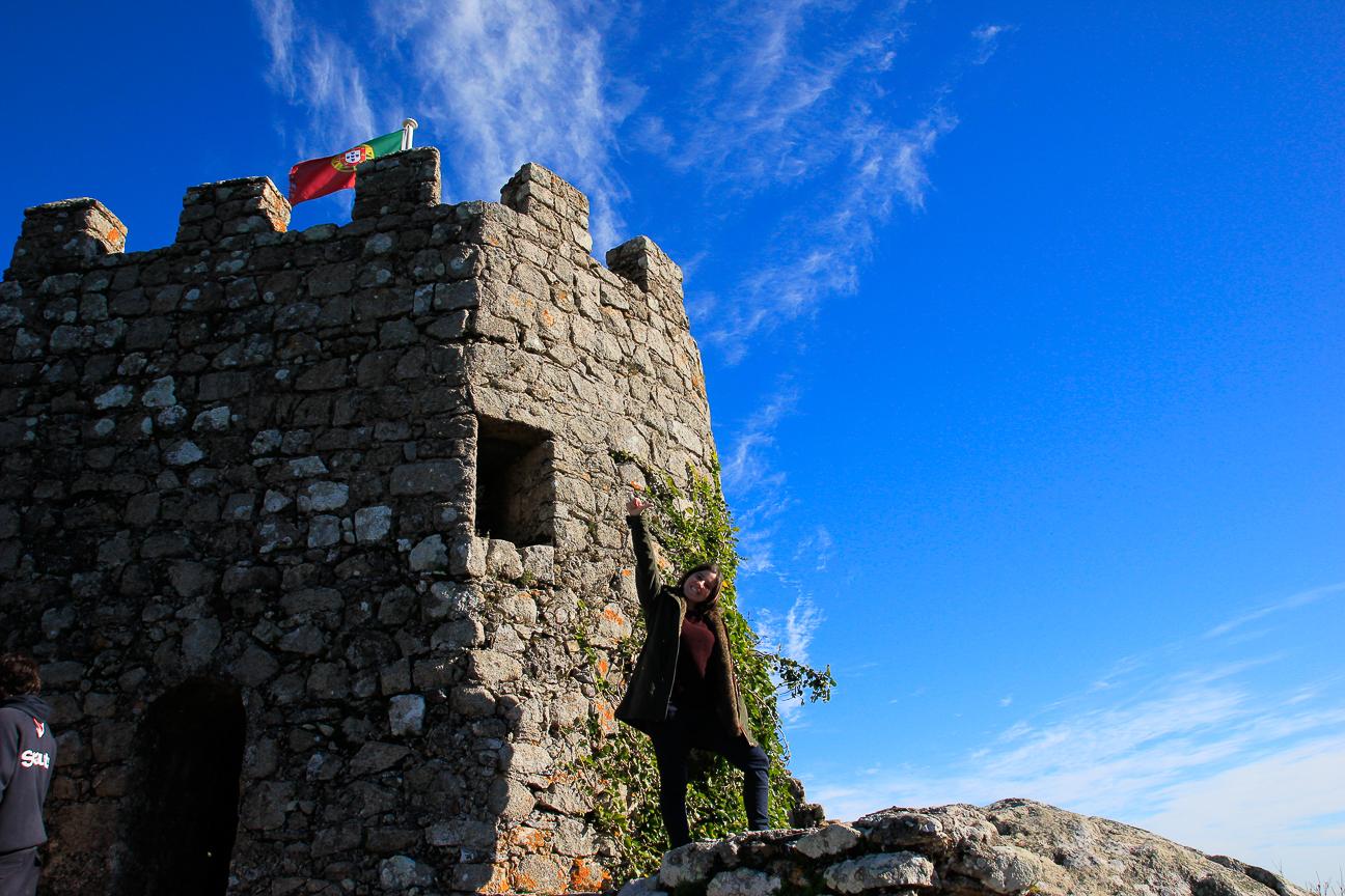Henar en Castillo de los moros en Sintra