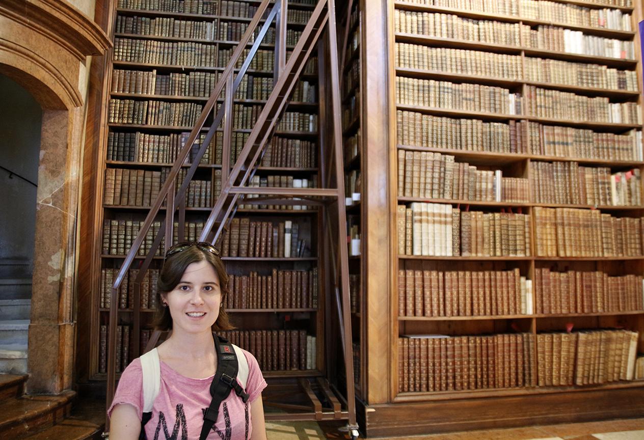 Henar en la Biblioteca de Viena