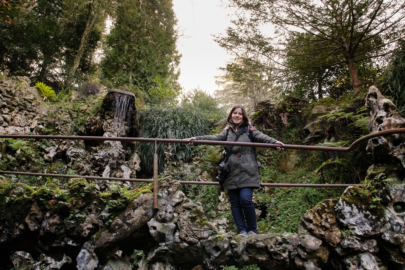 Henar en los jardines de la Quinta