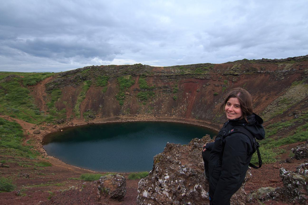 Henar en uno de los volcanes de Islandia