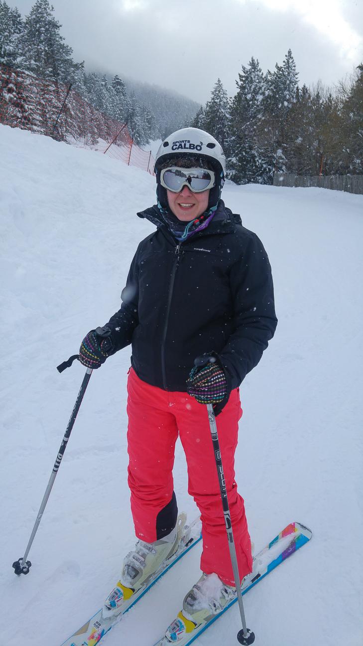 Henar esquiando