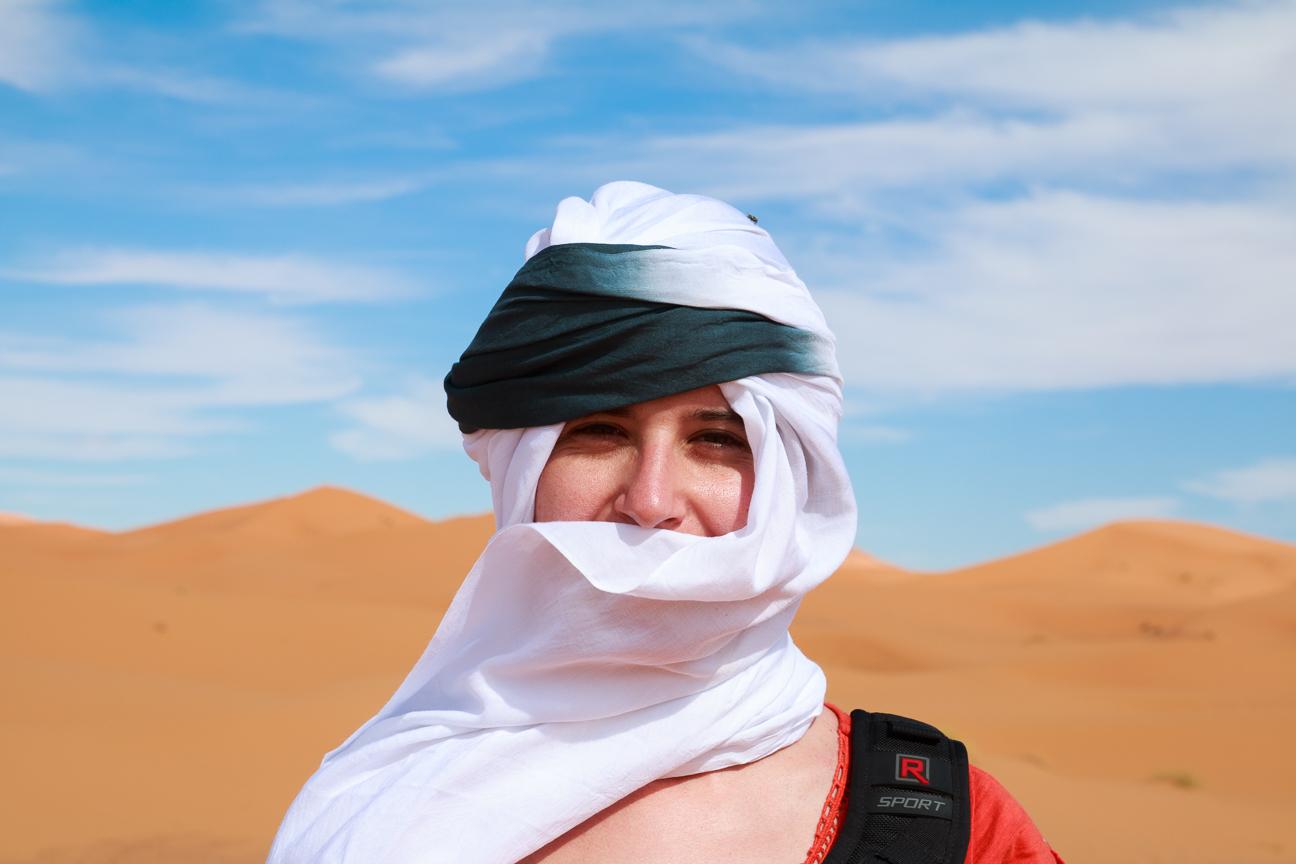 Henar preparada para cruzar el desierto