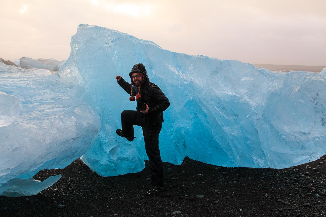 Icebergs en la diamonds beach