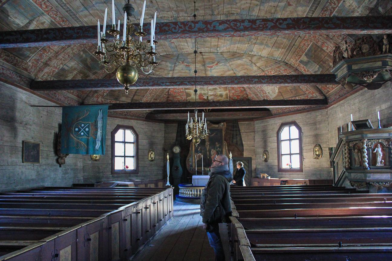 Iglesia antigua en Skansen Estocolmo