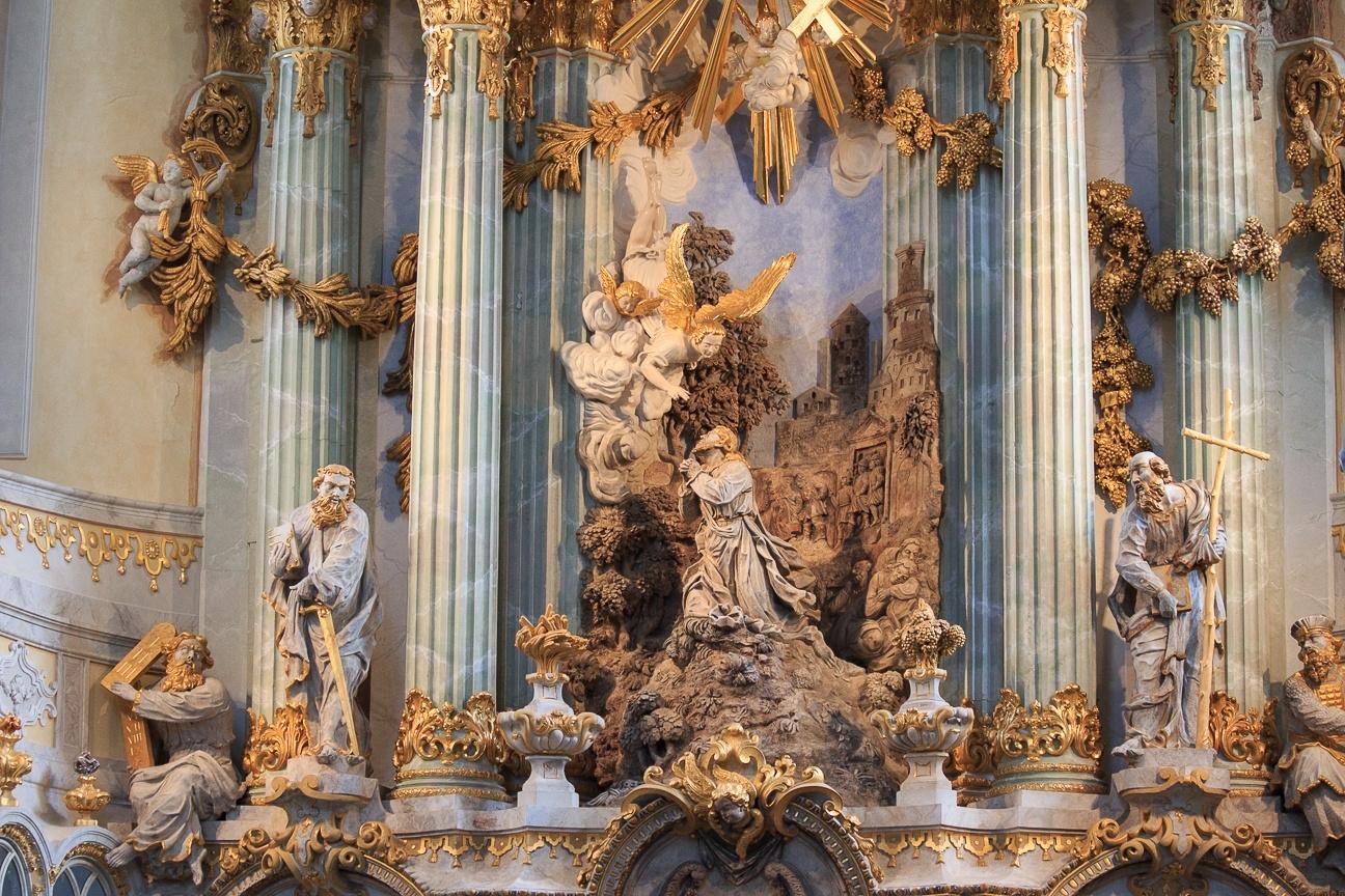 Iglesia barroca en Dresde Alemania