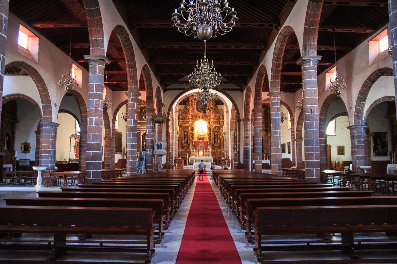 Interior de la Iglesia de la Concepcion en Santa Cruz de Tenerife