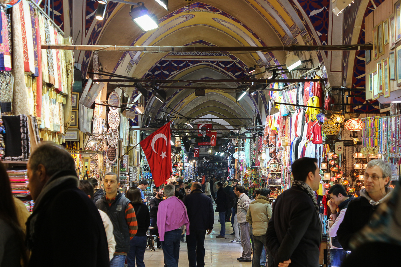 Interior del Gran Bazaar de Estambul
