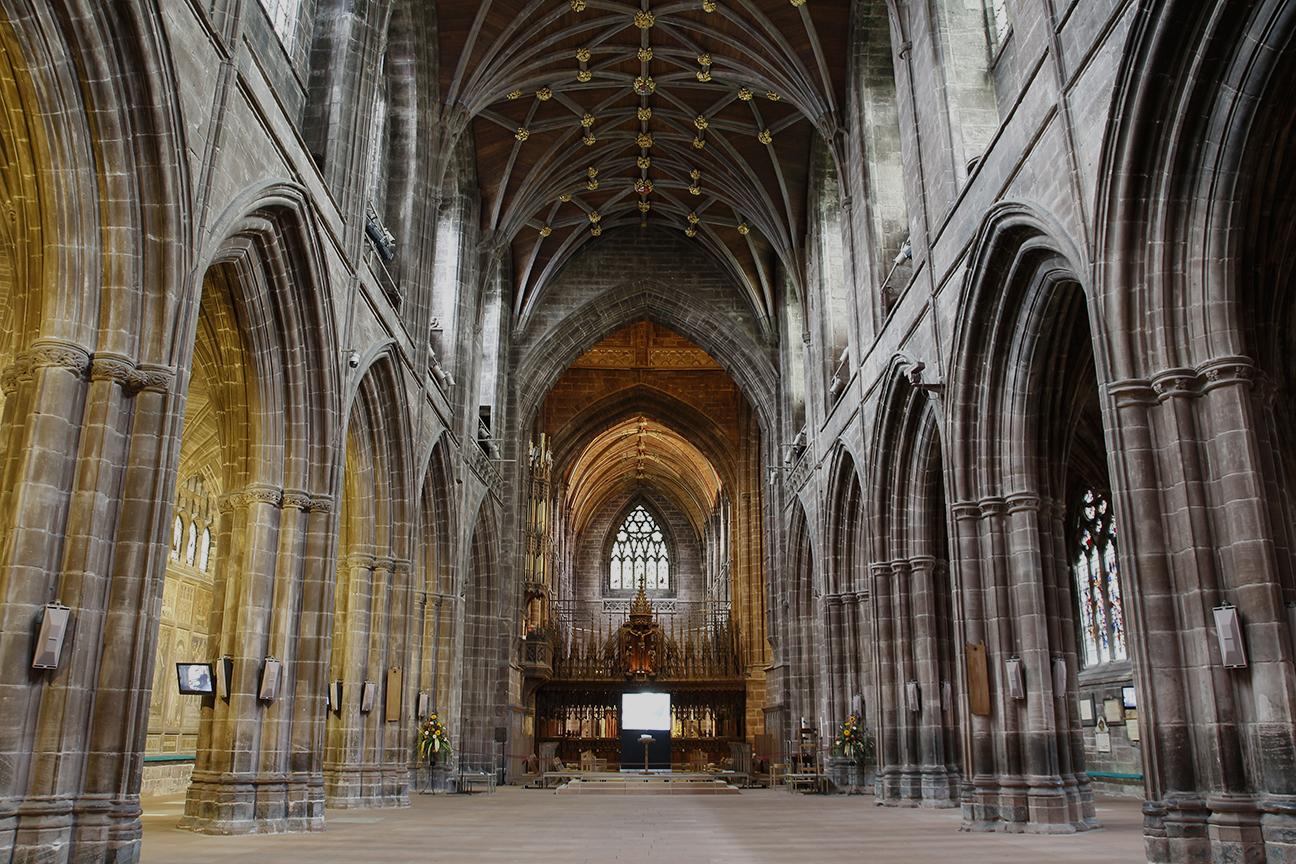 Interior de la Catedral de Chester