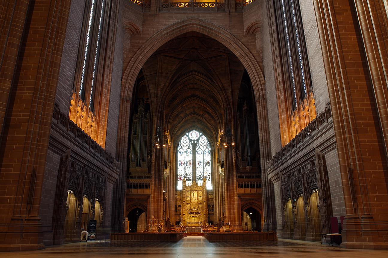 Interior de la Catedral de Liverpool