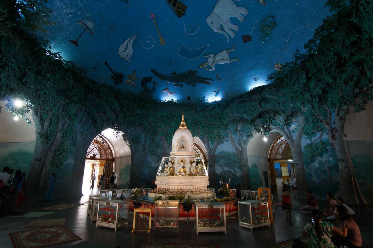 Interior de la Maha Wizaya Paya