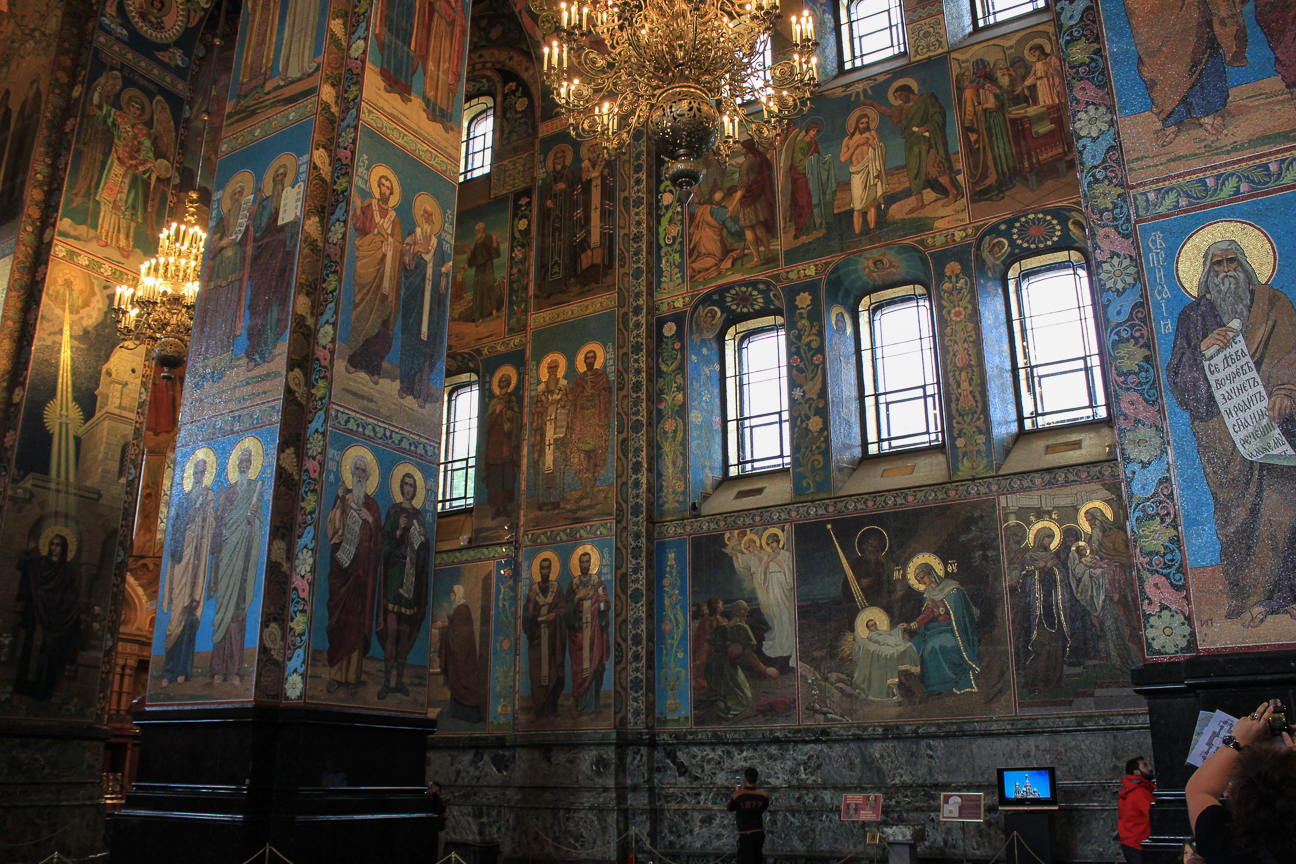 Interior de la iglesia de la Sangre Derramada de San Petersburgo