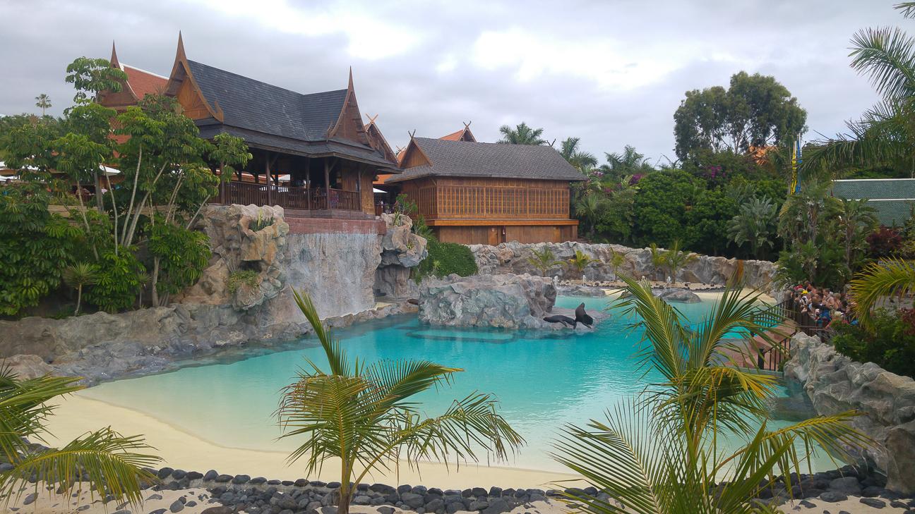 Isla de los leones marinos en Siam Park