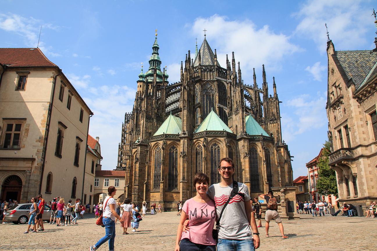 La catedral de San Vito en el castillo de Praga