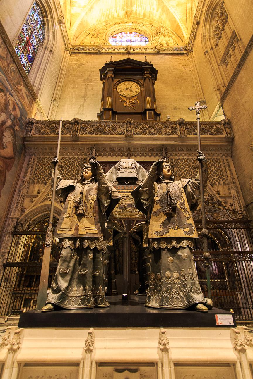 La tumba de Cristobal Colon en Sevilla