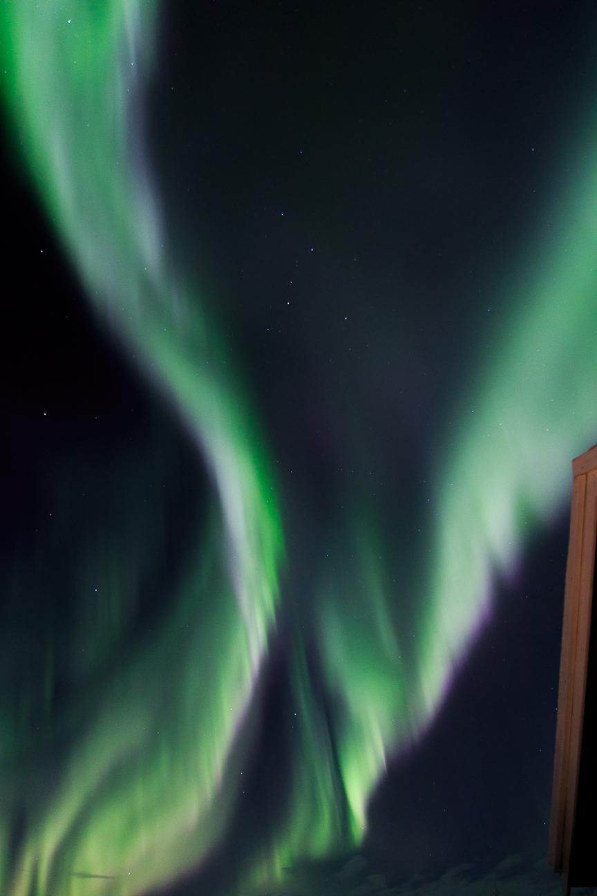 Aurora boreal lila