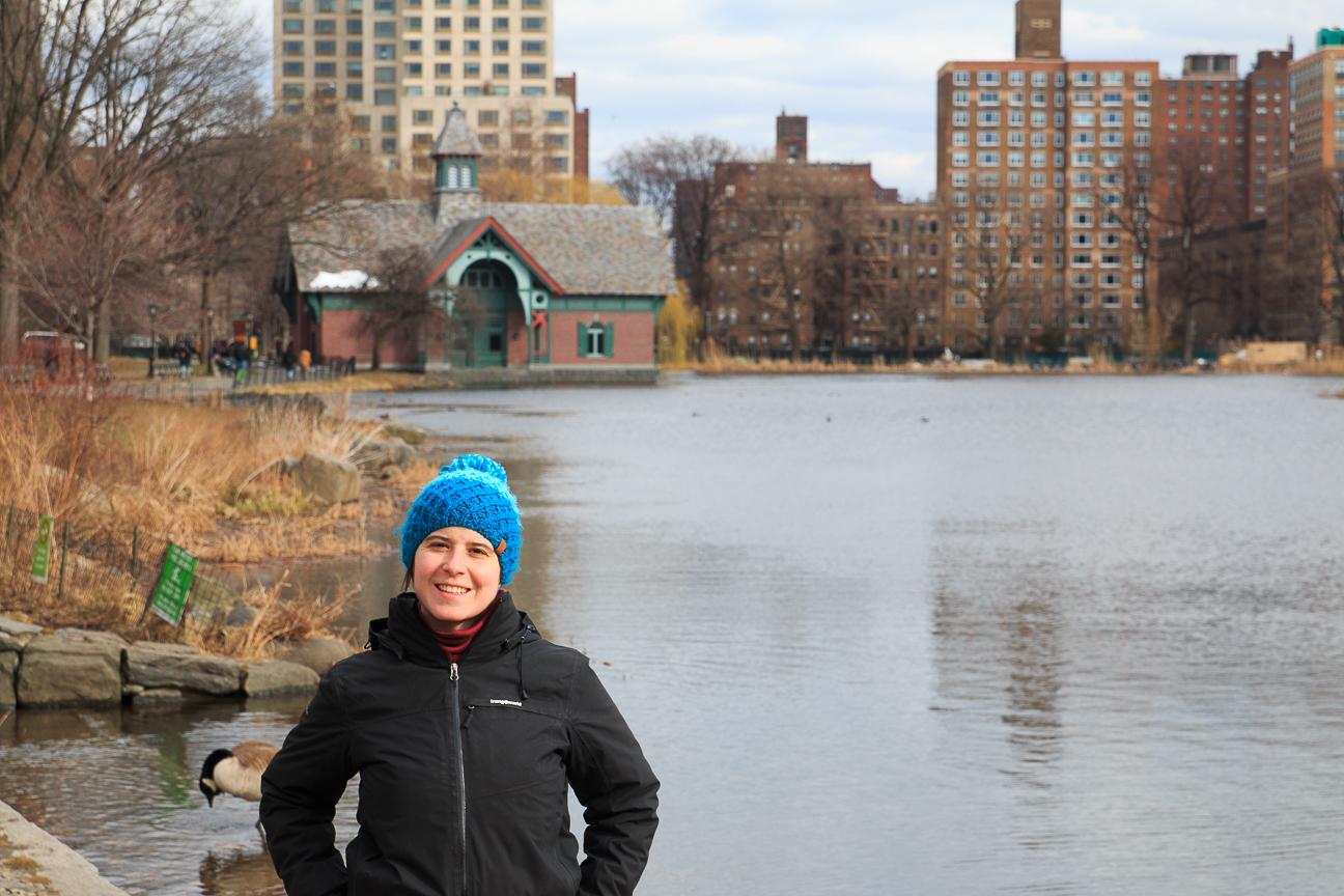 Lago en Central Park de Nueva York