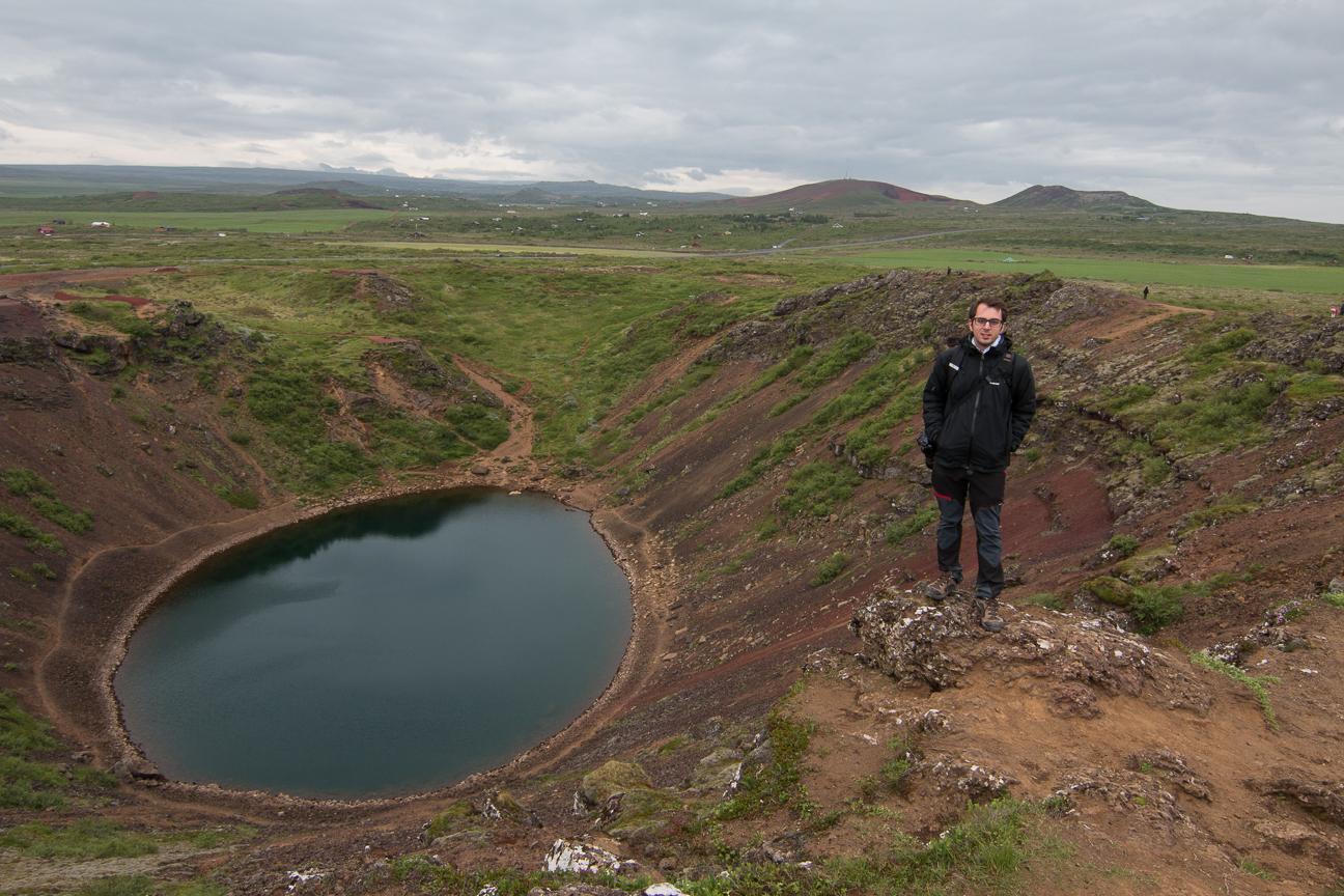 Lago en antiguo crater volcanico