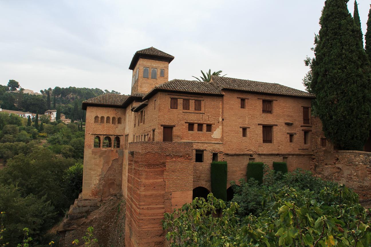 Los rojizos colores de la Alhambra