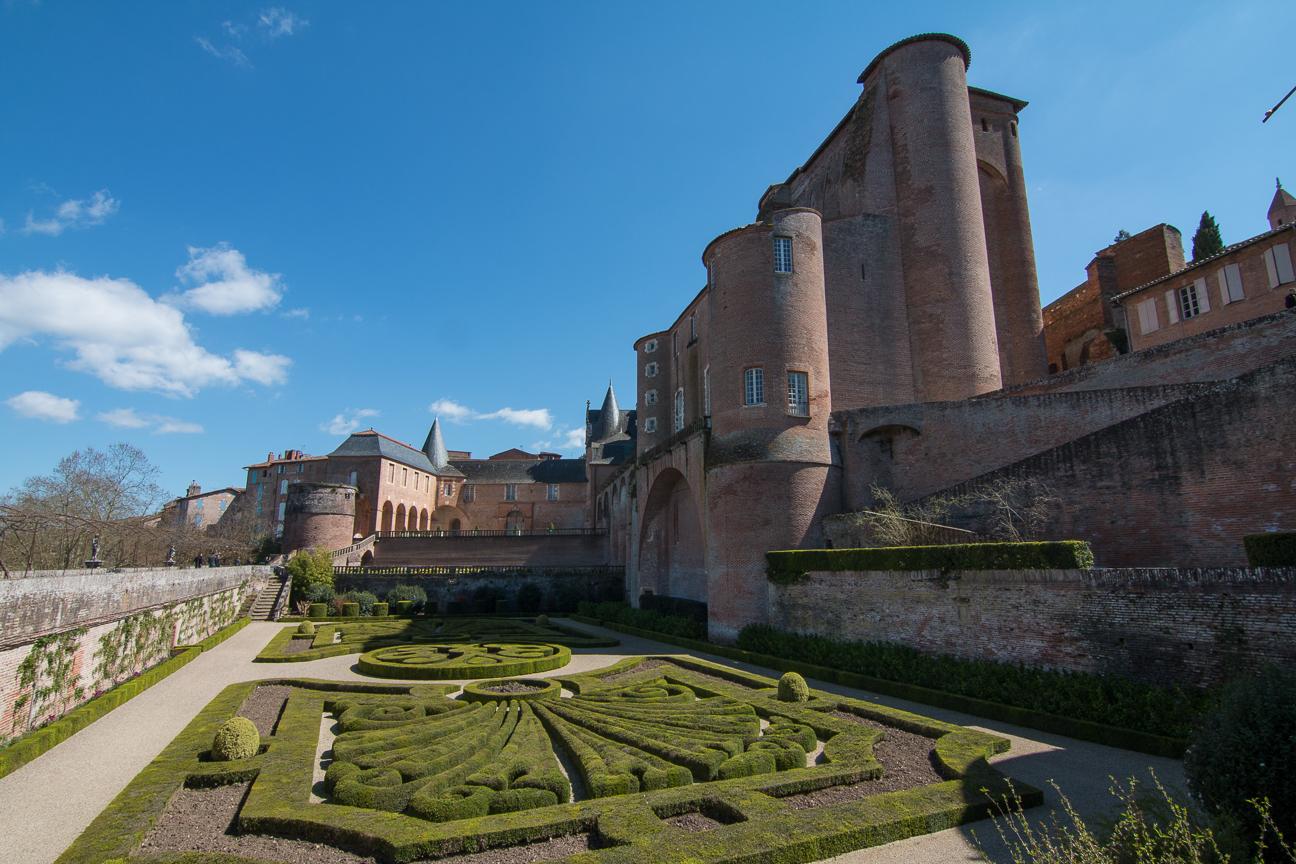Los jardines de la abadia de Albi